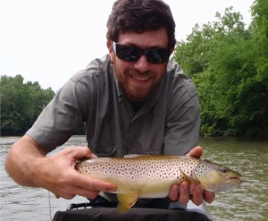 Caught last Tuesday on the Watauga on a size 20 pheasent tail on 6X tippet. Respect the skills.